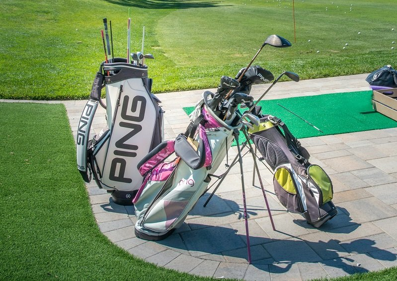 Golf Bags, Tees and Balls