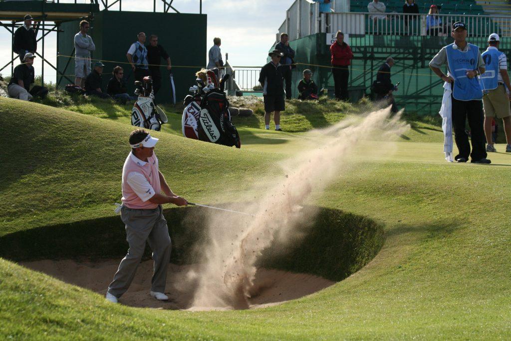 golf swing ball striking 4 bunker